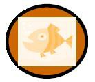 Orange fisk